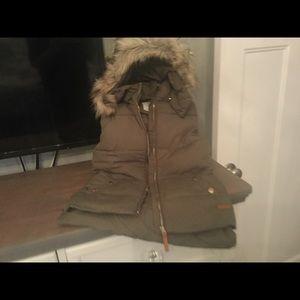 H&M Vest with faux fur hood